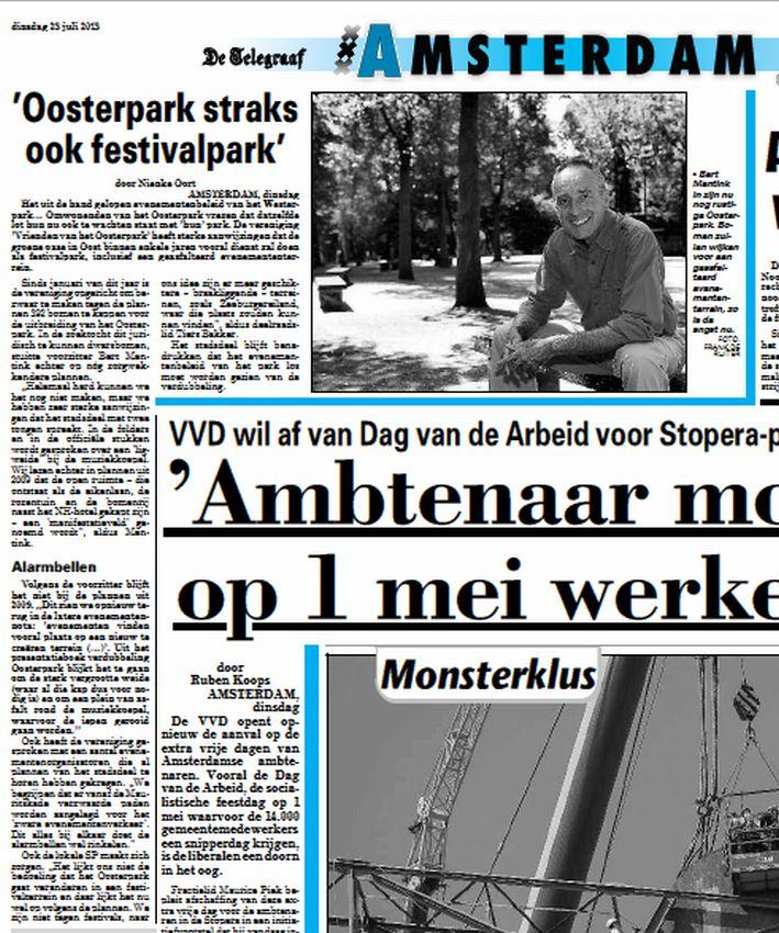 telegraaf Amsterdam 23 juli 2013